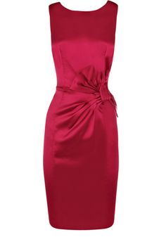 Bow Satin Dress - reminds me a little of dress from first date with my husband