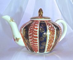 Mini Victoria and Albert Miniatures Teapot by by CoCoBlueTreasures