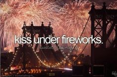 Firework smooches