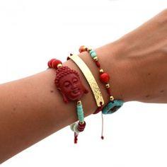 Pulsera India Roja. Compra tus accesorios desde la comodidad de tu casa u oficina en www.dulceencanto.com #accesorios #accessories #aretes #earrings #collares #necklaces #pulseras #bracelets #bolsos #bags #bisuteria #jewelry #medellin #colombia #moda #fashion