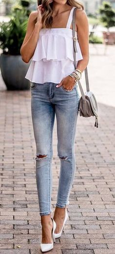 summer outfit top + rips