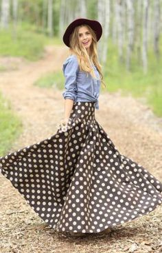 fun polka dot skirt
