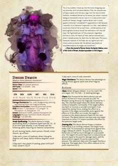 DnD 5e Homebrew — Dragon Age Demons Part 1 by Emmetation /...