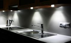 [ Lights Wall Mounted Cabinets Functional Kitchen Running East Wall Space Foot ] - Best Free Home Design Idea & Inspiration Kitchen Cabinets Upgrade, Affordable Kitchen Cabinets, Kitchen Under Cabinet Lighting, Kitchen Lighting Design, Led Z, Easy Home Upgrades, Led Light Stick, Cupboard Lights, Functional Kitchen