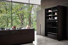 Maxima 2.2 Kitchen in Matt Titanium Lacquer and Oak - Cesar NYC