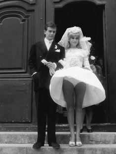 Catherine Deneuve et l'acteur français Jean-Pierre Honoré en 1962 dans le film «La vice et la vertu».