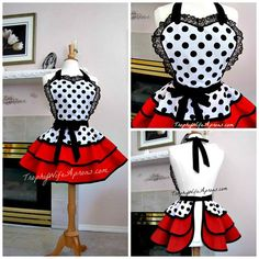 Trophy Wife Aprons A Shout Out for a fabulous shop. If I ever wear an apron, I'd pick something cute like this!