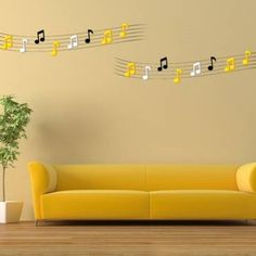 3D Musical Note Wall Decals 2 Pcs 7 Colors Acrylic Home Bedroom Living Room Wall Stickers Decor - Banggood Mobile