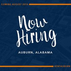 NOW HIRING!! Our Auburn store is opening in just a couple of weeks! We're looking for the BEST of the BEST to join our #ENTAuburn Entourage for IMMEDIATE HIRE! Think you've got what it takes? Check out the Careers page on our website & APPLY TODAY!