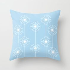 Dandelion Pattern #1 | Springtime approaching with a beautifully illustrated dandelion design. #graphicdesign #design #illustration #unique #flowery #girly #botanic #pattern #botanical #plant #flower #patterns #plants #elegant #flowers #floral #nature #garden #kathrinmay #dandelion #society6 #pillow