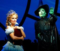 Idina Menzel and Kristin Chenoweth in Wicked as Glinda and Elphaba. One of my favorite Broadway musicals