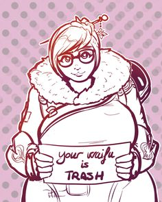 Mei thinks your waifu is trash (by xanakoap) Overwatch Mei, Overwatch Comic, V Games, Video Games, Mei Ling Zhou, Paladin, Dragon Ball, Bae, Fanart