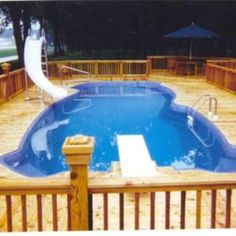 William C. of Southgate, MI uses Cabot Crysal Clear Woodcare's Waterproofing on a wood deck that was built to get wet! Above Ground Pool Decks, In Ground Pools, Outside Living, Outdoor Living, Outdoor Decor, Pool Deck Plans, Gazebo On Deck, Outdoor Playground, Pool Landscaping