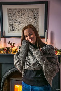 Ravelry: Wrap with sleeves & thumbhole pattern by Ann Linderhjelm