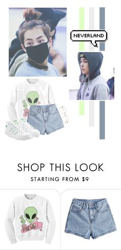 """Kim Minseok"" by lazy-alien ❤ liked on Polyvore featuring Chicnova Fashion, adidas Originals, EXO, exom, xiumin and kimminseok"