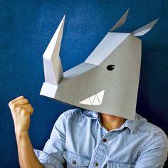 máscaras de papel!