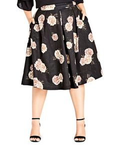 9427dd55b0856 City Chic Plus Antique Rose Pleated Midi Skirt Plus Size Skirts