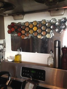 Bulk amounts in freezer but smaller amounts like this. Spice Storage Before & After: A Spice Rack Backsplash — Reader Kitchen Project