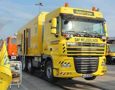In Tschechien auf Basis eines DAF WELDERLINER XF 105.410 zum Zweiwege-Lkw… Work Train, Transportation, Trucks, Vehicles, Czech Republic, Truck