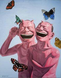 Yue Minjun, Butterfly