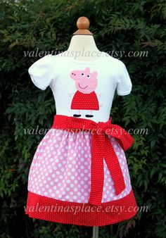 Your place to buy and sell all things handmade Pig Birthday, Fourth Birthday, Birthday Ideas, Birthday Parties, Peppa Pig Outfit, Bebe 1 An, Pig Character, Pig Party, Monster Party