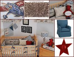 Brand New!!! Boys vintage airplane nursery collection <3 <3