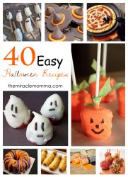 40 Easy Halloween Recipes- can't wait for Halloween!