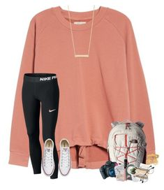 """""""~school field trip tmr!~"""" by taylortinsley ❤ liked on Polyvore featuring Madewell, Converse, The North Face, Canon, Garnier, Recover, NARS Cosmetics, M&Co, Kitsch and Bony Levy"""