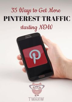 35 Ways to Increase Your Pinterest Traffic Starting NOW - The Work at Home Wife ** Find out more at the photo link