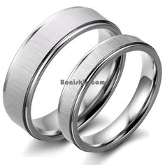 Couples Brushed Stainless Steel Men Ladies Wedding Band Engagement Promise Ring #UnbrandedGeneric