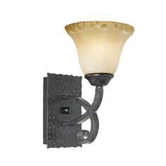 Cordelia Collection Copper Bronze and Amber Wall Sconce -