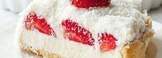 Tarta Raffaello z truskawkami (Kwestia Smaku) A Food, Cheesecake, Dessert Ideas, Pies, Raffaello, Cheesecakes, Cherry Cheesecake Shooters