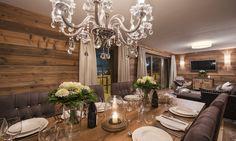 Chalet Zari is a luxury ski chalet in St Anton exclusively run by Kaluma Ski. An exclusive luxury ski apartment part of Chalet Eden Rock. Ski Chalet, St Anton, Eden Rock, Ski Holidays, Daily Cleaning, Ski Lift, Bar Areas, Rustic Design, Dining Area