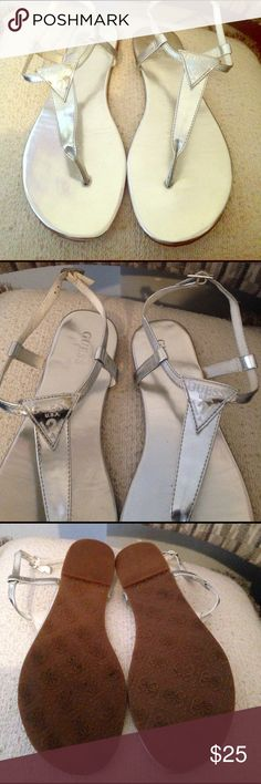 Guess sandals *Only worn once *Like New *Good Condition *Preowned * No Size Tag  🌸🌸🌸Make An Offer🌸🌸🌸 Guess Shoes Sandals