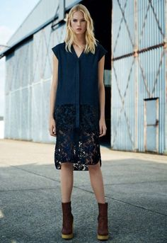 Swyni shirt dress, £248  Blaise chelsea boot, £248
