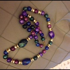 Beautiful necklace Beautiful blue purple green and gold necklace! Jewelry Necklaces