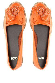 organge flat shoes- ASOS