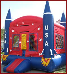 Rocket Ship Bouncy House