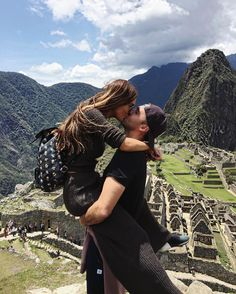 Negin Mirsalehi and Maurits Stibbe at Machu Picchu