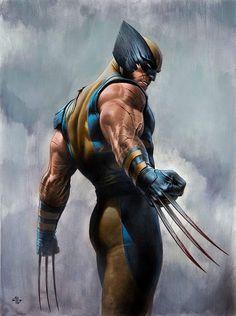 Wolverine- by Legendary artist Adi Granov. Wolverine Comics, Marvel Dc Comics, Marvel Heroes, Marvel Characters, Marvel Avengers, Marvel Art, Superhero Poster, Batman Poster, Comic Books Art