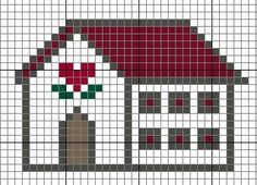 A cute and easy to stitch countryhouse. Enjoy!