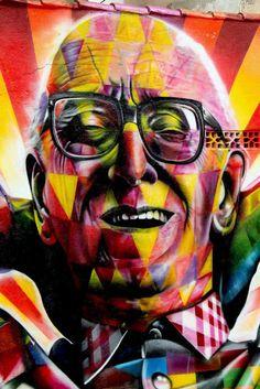 Eduardo Kobra New Mural In Sao Paulo, Brasil (Mário Lago)