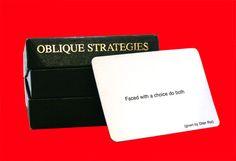 Creatività e strategie oblique http://www.paolomarangon.com/creativita-e-strategie-oblique/