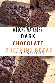 Dark #Chocolate #Zucchini #Bread // #Weight_Watchers // #Recipes // #WeightWatchers // #Food // #Healthyfood // #SmartPoints // #Smart_Points // #Skinny // #Family // #Health