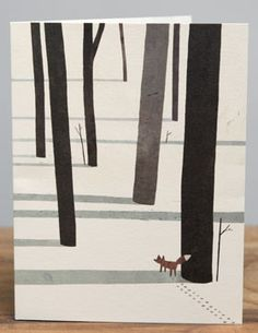 Fox and Trees ~ Printed Card