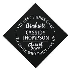Any Inspirational Quote Graduate Class Year Modern Graduation Cap Topper #class #year #graduate #inspirational #quote #GraduationCapTopper Graduation Cap Tassel, Graduation Cap Toppers, Graduation Cap Designs, Graduation Cap Decoration, Grad Cap, College Graduation Parties, Graduation Theme, Graduation Invitations, Graduation Gifts