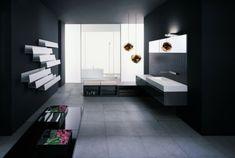 33 Dunkle Badezimmer Design Ideen   Bad Einrichtung Manimalistisch Schwarz  Weiß Kontrast Blumen Modern Bathroom Minimalistic Look | Black Wood |  Pinterest ... Pictures Gallery