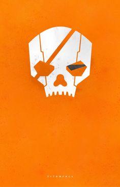 Titanfall ~ Minimal Gaming Poster by Joseph Harrold #aamusementphile