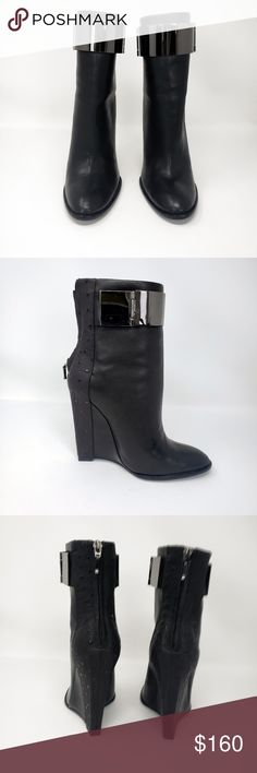a39a19984e Monika Chiang Black Wedge Barr Bootie Monika Chiang Black Wedge Barr Bootie  Size 38.5, runs