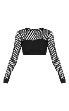 Shop the range of tops today at PrettyLittleThing. Crop Top Outfits, Edgy Outfits, Cute Casual Outfits, Girls Fashion Clothes, Teen Fashion Outfits, Girl Outfits, Egirl Fashion, Mode Kpop, Black Fishnets
